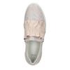 Kožené dámske Slip-on bata, ružová, 516-5614 - 26