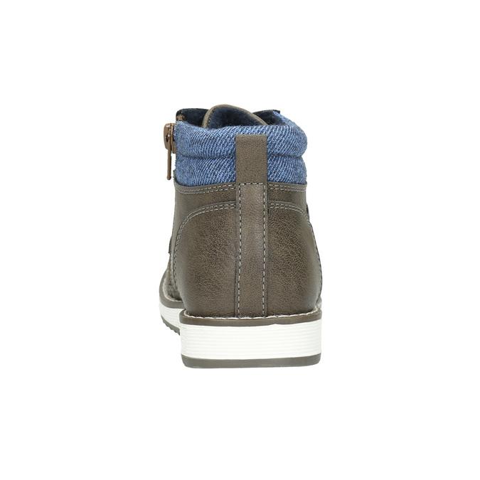 Chlapčenská členková obuv mini-b, hnedá, 211-3623 - 17