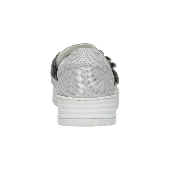 Dámska kožená Slip-on obuv bata, šedá, 516-1614 - 17