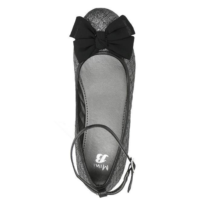 Dievčenské baleríny s trblietkami mini-b, čierna, 329-6286 - 15