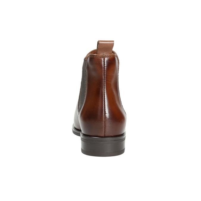Kožená dámska Chelsea obuv bata, hnedá, 594-4635 - 17