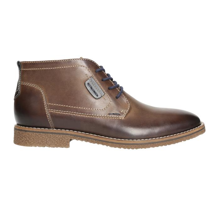 Kožená pánska členková obuv bata, hnedá, 826-4614 - 15