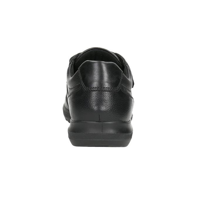 Neformálne kožené poltopánky comfit, čierna, 824-6919 - 17