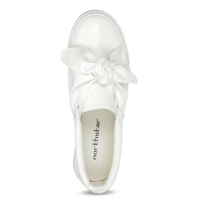 Biela dámska Slip-on obuv s mašľou north-star, biela, 511-1606 - 17