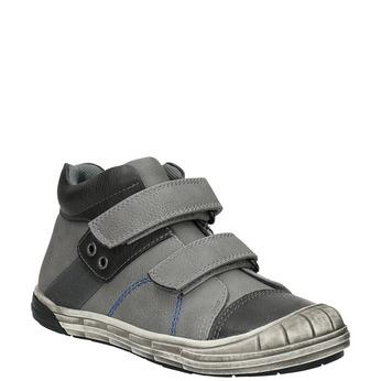 Členková detská obuv na suchý zips mini-b, šedá, 211-2624 - 13