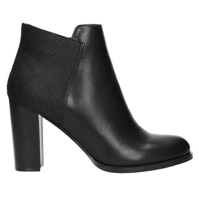 Členkové čižmy na podpätku bata, čierna, 791-6603 - 15