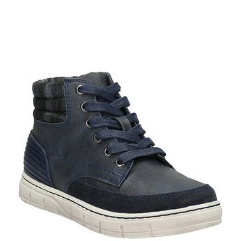 Členková detská obuv na zips mini-b, modrá, 311-9611 - 13