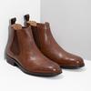 Hnedé kožené Chelsea Boots bata, hnedá, 896-3400 - 26