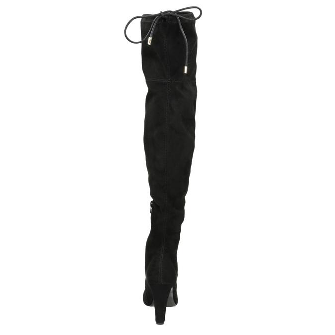 Čižmy nad kolená na podpätku insolia, čierna, 799-6618 - 17