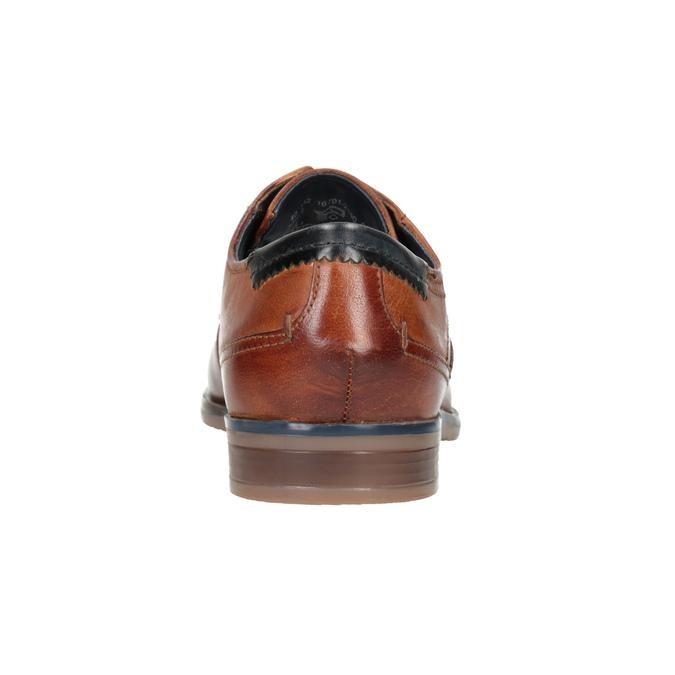 Ležérne kožené poltopánky bugatti, hnedá, 826-3008 - 16