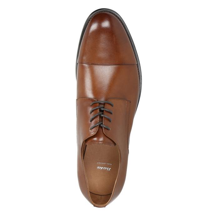 Hnedé kožené Derby poltopánky bata, hnedá, 826-3682 - 26