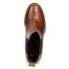 Členková kožená obuv na podpätku bata, hnedá, 694-4641 - 26
