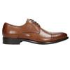 Hnedé kožené Derby poltopánky bata, hnedá, 826-3682 - 15