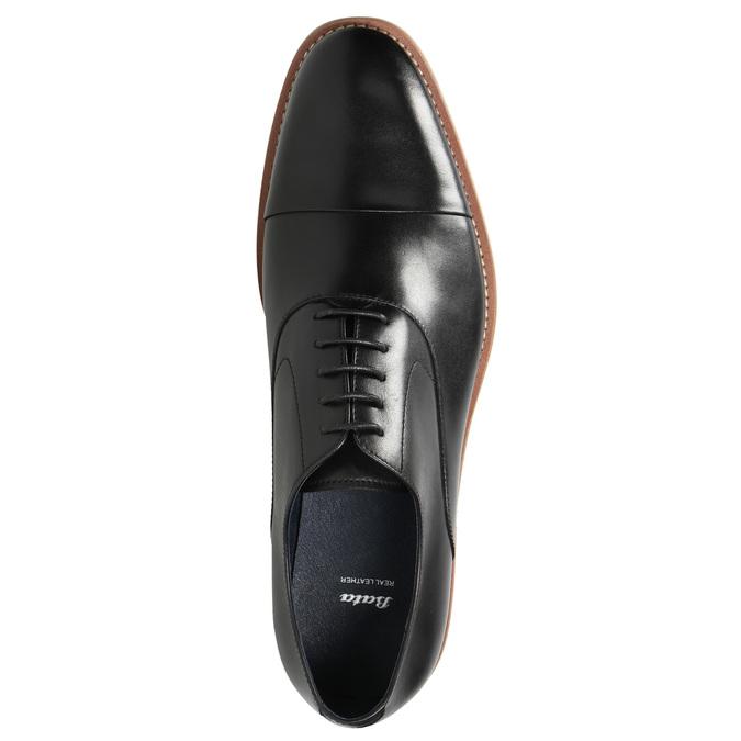 Celokožené Oxford poltopánky bata, čierna, 824-6414 - 26