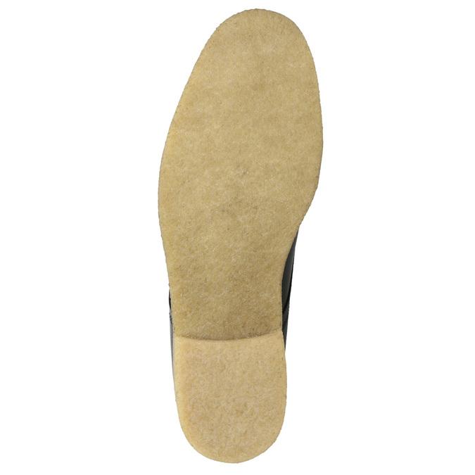 Kožené poltopánky s ležérnou podrážkou bata, čierna, 824-6412 - 19