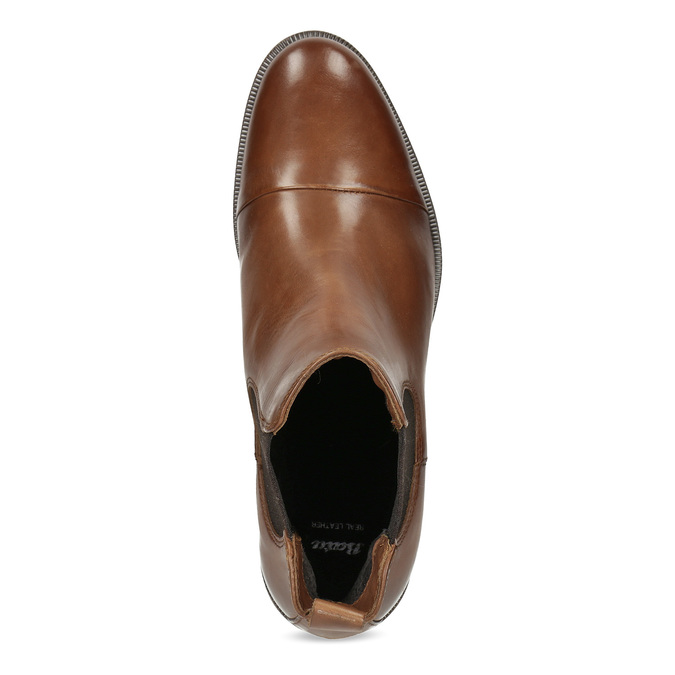 Kožená hnedá dámska Chelsea obuv bata, hnedá, 594-4636 - 17