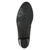 Kožené lodičky na nízkom podpätku gabor, čierna, 626-6116 - 19