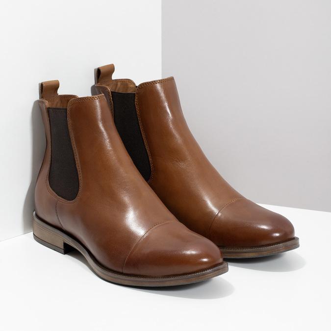 Kožená hnedá dámska Chelsea obuv bata, hnedá, 594-4636 - 26
