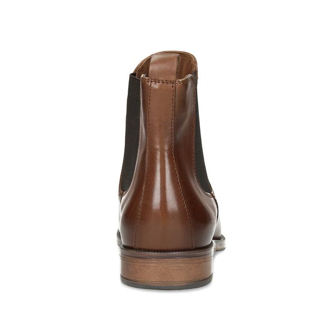 Kožená hnedá dámska Chelsea obuv bata, hnedá, 594-4636 - 15