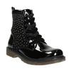 Detská členková obuv s kamienkami mini-b, čierna, 321-6611 - 13