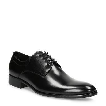 Pánske kožené Derby poltopánky bata, čierna, 824-6233 - 13