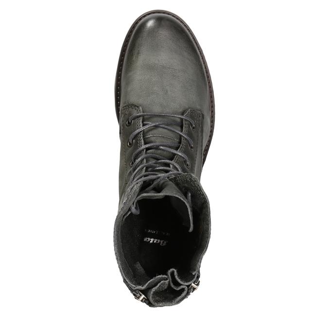 Kožená dámska obuv bata, šedá, 596-2616 - 15