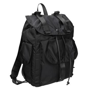 Čierny batoh s vreckami bata, čierna, 969-6163 - 13