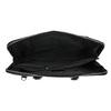 Kožená taška s odnímateľným popruhom bata, čierna, 964-6223 - 15