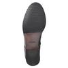 Kožená členková obuv so zdobením clarks, čierna, 614-6027 - 17
