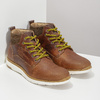 Hnedá kožená pánska členková obuv bata, hnedá, 846-3645 - 26