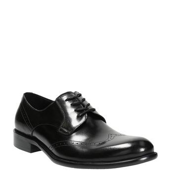 Pánske kožené Brogue poltopánky bata, čierna, 824-6227 - 13
