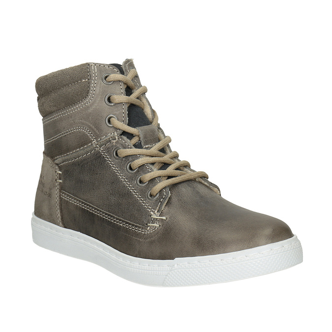 Detská kožená členková obuv bullboxer, šedá, 494-8023 - 13