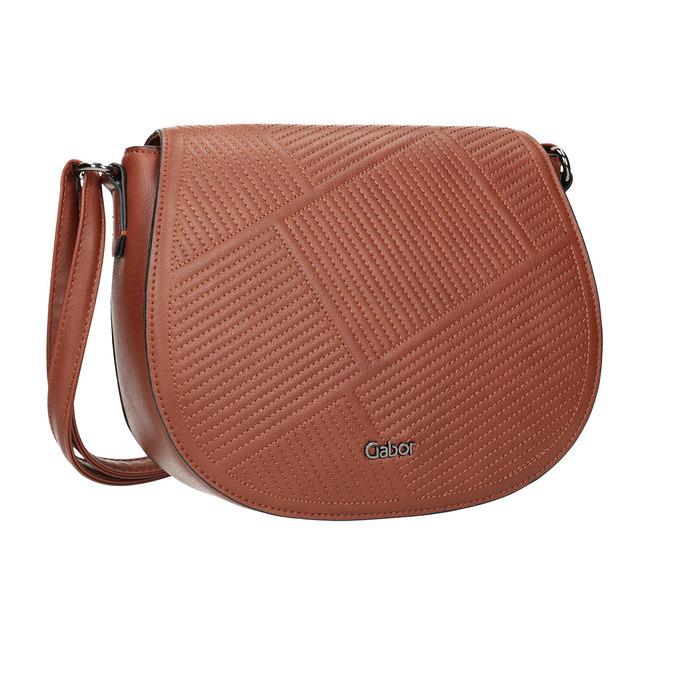 Dámska kabelka s prešitím gabor-bags, hnedá, 961-3055 - 13