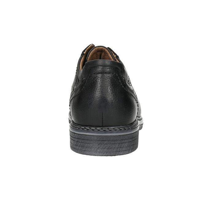 Pánske kožené Derby poltopánky bata, čierna, 824-6926 - 17