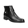 Kožená čierna členková obuv bata, čierna, 596-6669 - 13