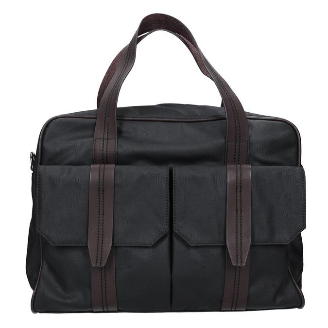 Pánska textilná taška bata, čierna, 969-6131 - 26