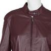 Vínová kožená bunda bata, červená, 974-5175 - 16