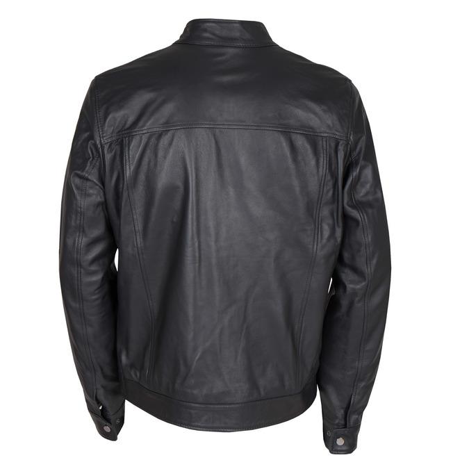 Pánska kožená bunda bata, čierna, 974-6154 - 26