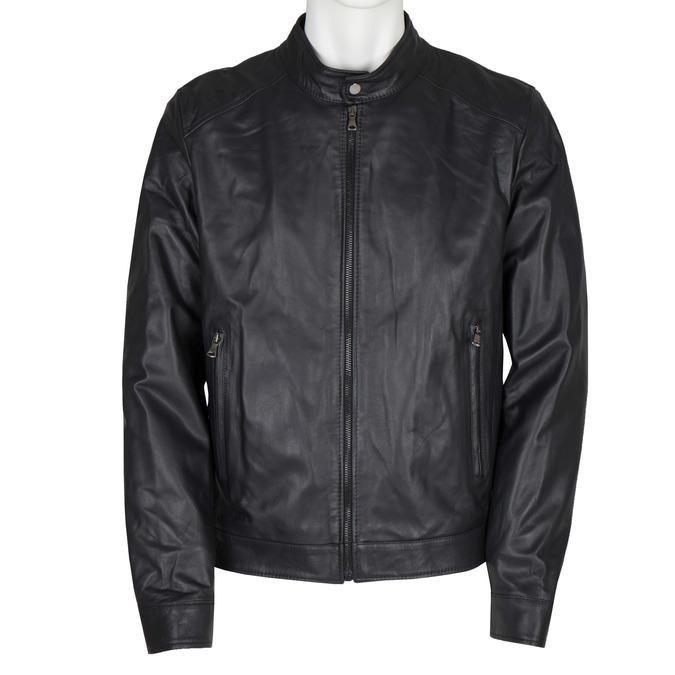 Pánska kožená bunda bata, čierna, 974-6154 - 13