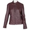 Vínová kožená bunda bata, červená, 974-5175 - 13