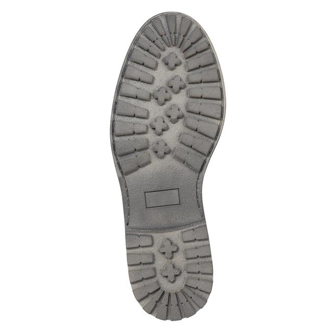 Kožené pánske poltopánky bata, čierna, 826-6619 - 26