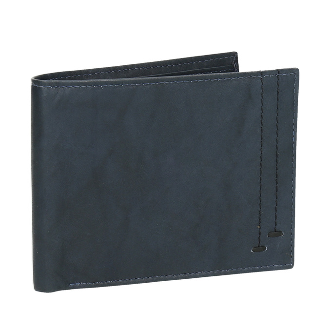 Pánska modrá kožená peňaženka bata, modrá, 944-9183 - 13