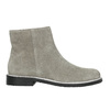 Členková obuv z brúsenej kože bata, šedá, 593-2603 - 15