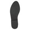 Kožená členková obuv so strieborným lemom bata, čierna, 593-6603 - 19