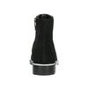 Kožená členková obuv so strieborným lemom bata, čierna, 593-6603 - 17