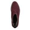 Členková obuv z brúsenej kože bata, červená, 593-5603 - 26
