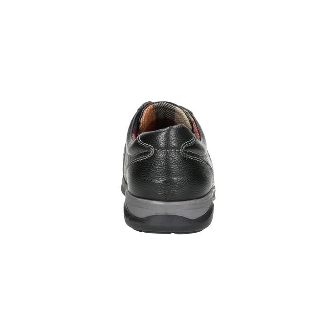 Pánske kožené tenisky bata, čierna, 824-6921 - 17