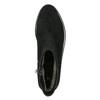Kožená členková obuv so strieborným lemom bata, čierna, 593-6603 - 26