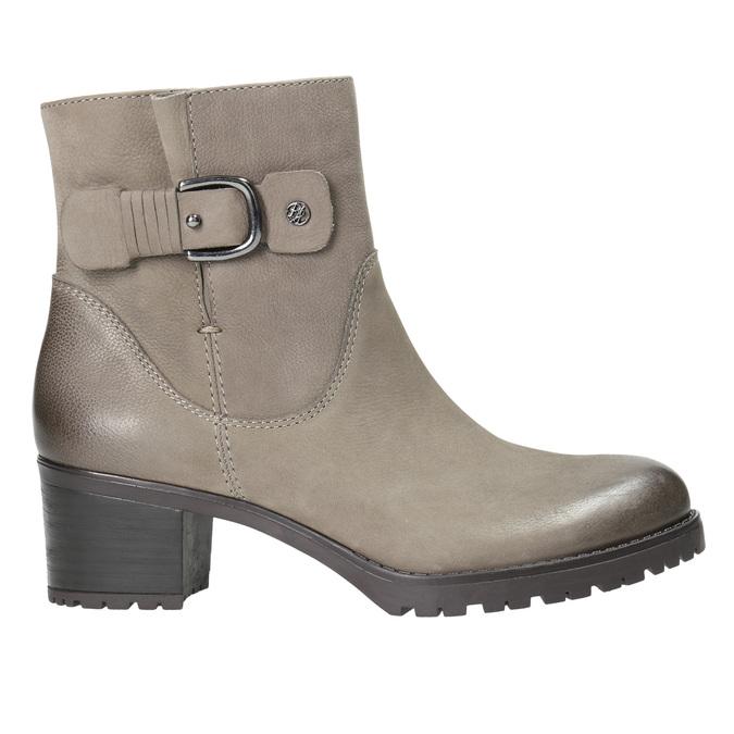 Kožené členkové čižmy s prackou bata, šedá, 696-2621 - 15