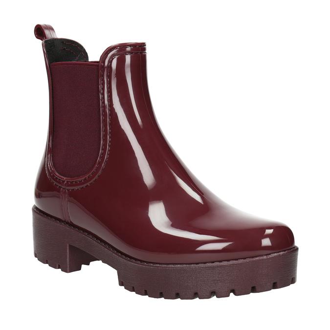 Členkové dámske gumáky bata, červená, 592-5400 - 13